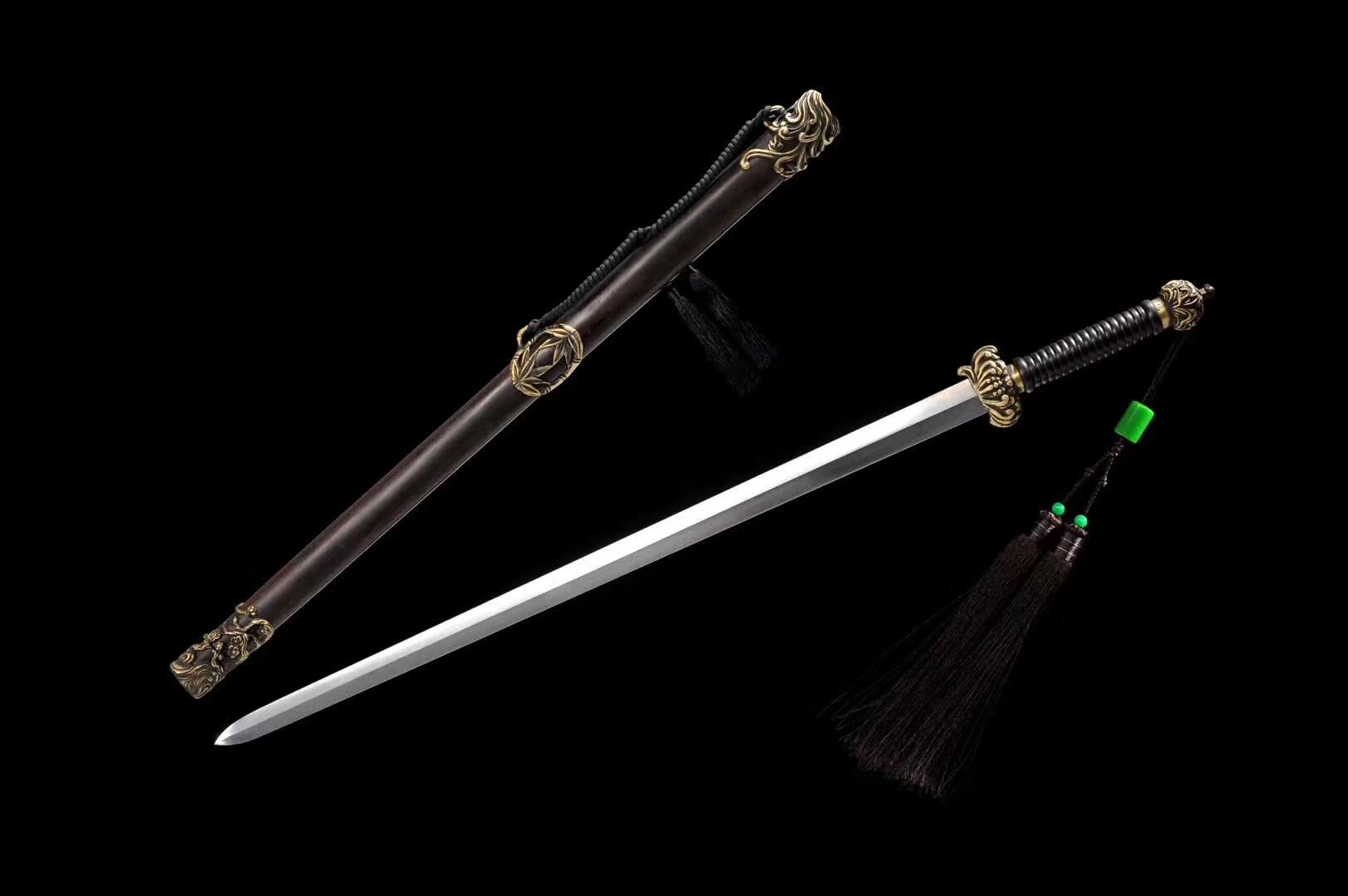 精品龙泉剑,扭转花纹钢宝剑,龙泉刀剑图片