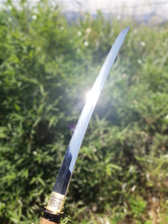 肋差烧刃|t10高碳钢烧刃|武士刀