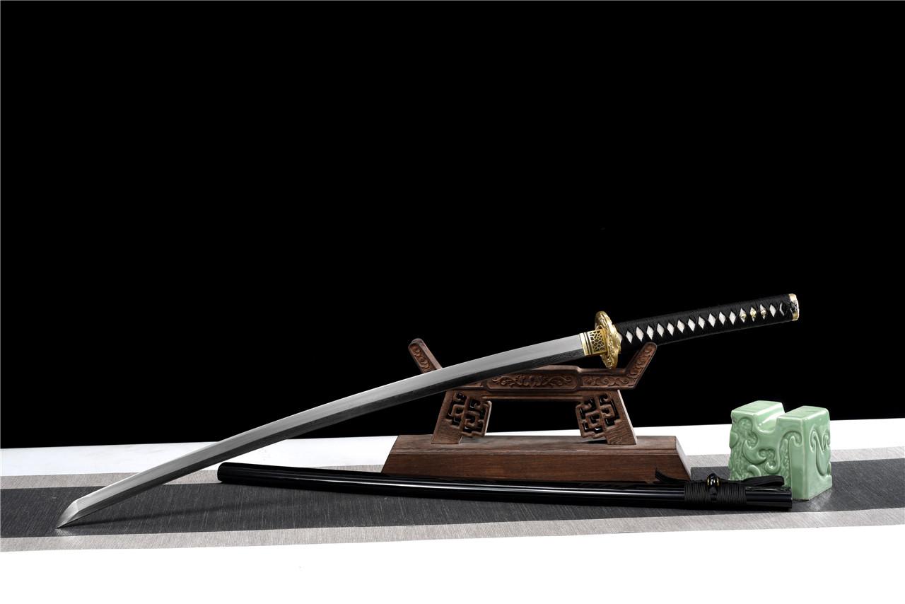 三枚夹钢铜装武士刀|武士刀|百炼花纹钢,日本武士刀图片,一体刀专卖,武士刀价格