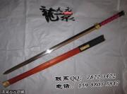 花纹夹钢四面红木铜装汉剑|汉剑|花纹钢|★★★|
