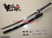 折叠黑飘武士刀|花纹钢|武士刀|★★★|标准长度