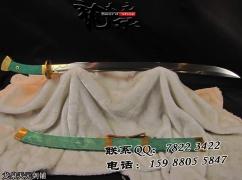 绿鱼皮百炼方鞘清刀|龙泉名刀|清刀|花纹钢|★★★