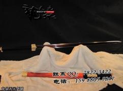 红木彩锻八面汉剑|汉剑|花纹钢|★★★★