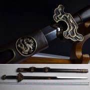 大明尚方宝剑|龙泉剑|百炼花纹钢|★★★★