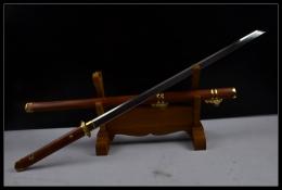 [特价热卖]酸枝木简装唐刀|唐刀|高碳钢|★★★