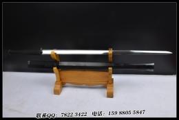 宽茎扁柄素铁装八面汉剑|花纹钢|汉剑|★★★★
