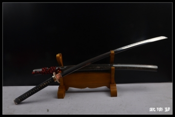 三枚合加长款精品武士刀|花纹钢夹钢烧刃|武士刀|★★★★