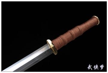 素铜八面汉剑|高碳花纹钢|汉剑|★★★