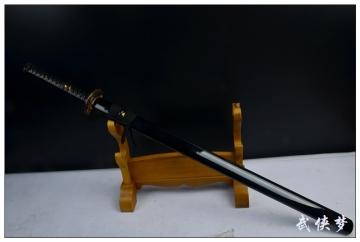 虎胆发黑直刀|高碳钢|武士刀|★★★