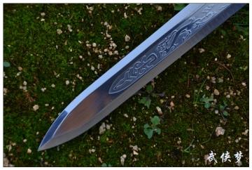 不锈钢秦剑 卧龙剑 不开刃