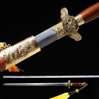 性能牡丹剑|龙泉剑|花纹钢|★★★