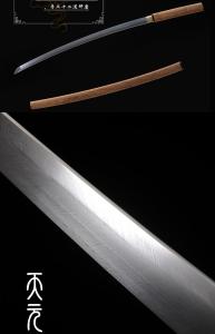 羽毛纹素装一体刀|武士刀|花纹钢|★★★★