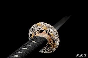 羽毛纹花纹钢武士刀|武士刀|花纹钢|★★★★