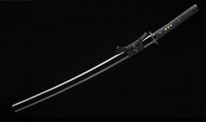 九字铁镡花纹钢烧刃武士刀|花纹钢|武士刀|★★★
