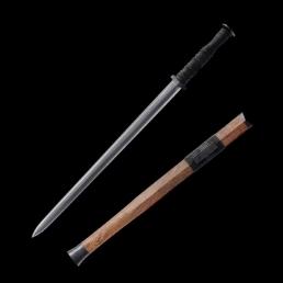 素装汉剑八面花纹钢|汉剑|花纹钢