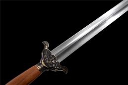 铜装四君子武术太极剑 太极剑 花纹钢
