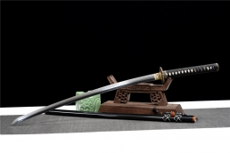 云龙地肌三枚合烧刃武士刀|武士刀|花纹钢夹钢覆土烧刃|★★★★