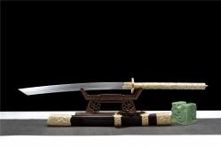 铜装花纹钢烧刃康熙宝刀|花纹钢烧刃|中国刀|★★★★