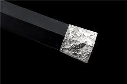 金属鞘四兽银装神符汉剑|汉剑|碳钢|金属鞘金属柄 未开刃