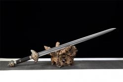 双槽手工研磨精品御龙宝剑|龙泉刀剑|手锻百炼花纹钢|★★★★