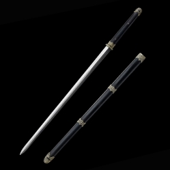 乌木简装唐剑|龙泉宝剑|花纹钢|★★★