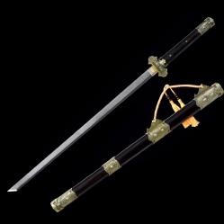 乌木豪华版花纹钢唐剑|唐刀剑|花纹钢|★★