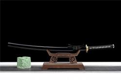 三枚夹钢铜装武士刀|武士刀|百炼花纹钢|★★★