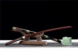 异彩花纹钢武士刀|武士刀|百炼花纹钢|★★★