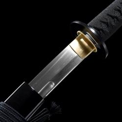 直刃纹烧丸子真樋武士刀|百炼花纹钢|武士刀|★★★★