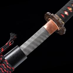 暗影日本武士刀|旋焊扭转纹花纹钢|武士刀|★★★
